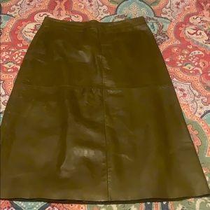 Gap green leather skirt
